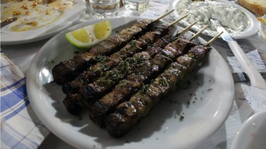 Perfect souvlaki really needs a good fat to meat ratio. Checkmate.