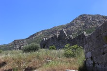 Fortification wall and tower at Ancient Messene