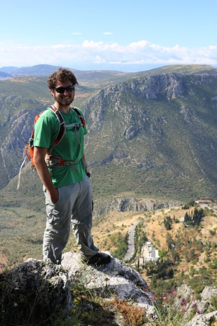 Dan hiked up Parnassos with TA Tim