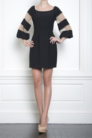 Celia Kritharioti Black with special sleeves