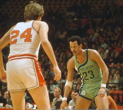 Hudson also played for the Hawks during their blue-and-green colorway era (Photo by Focus on Sport/Getty Images)