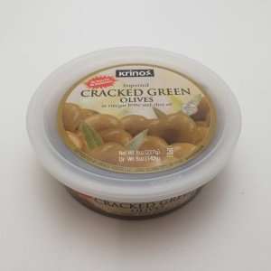 Greek cracked green olives
