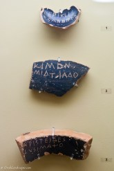 Three ostraca in the ancient Agora museum
