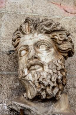 Sculpture of a Triton head