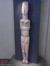Marble Cycladic Statue