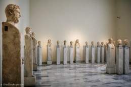 General view of the gallery of Roman portraits in the National Archaeological Museum of Athens