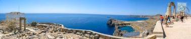 Lindos acropolis panorama