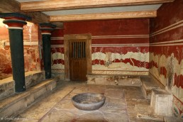 The ceremonial Throne Room at Knossos.