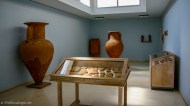 Ancient vases in the museum room