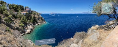 Vlychos beach in Hydra island
