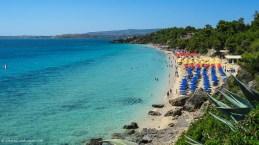 View of Makrys Gyalos beach