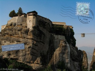 Varlaam monastery with cable car