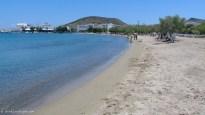 Sandy beach at Pollonia town