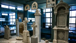 Marble sculptures in the museum