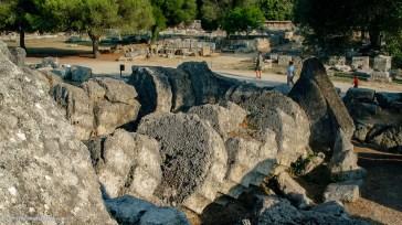 Fallen columns of temple of Zeus