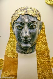 Gold and ivory head of a statue