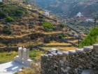 Churches and stone walls on Sifnos hills