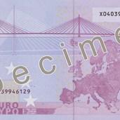 Photo of 500 Euro specimen