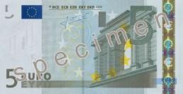 Photo of 5 Euro specimen