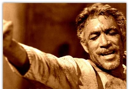 O Άντονι Κουίν στην ταινία Ζορμπάς(1964)