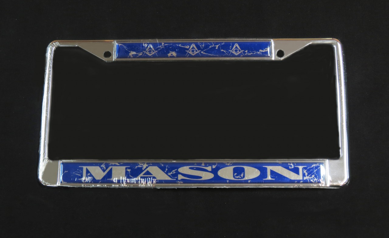 Mason License Plate Frame  The Greek Shop
