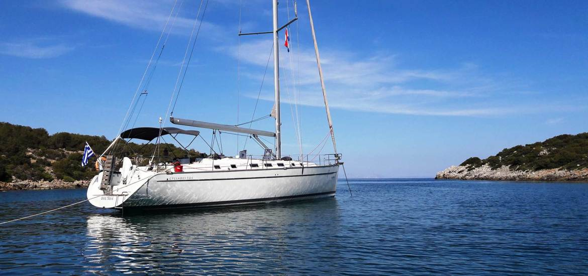 Sailing in Greece with Beneteau Cyclades 50.4 luxury yacht and Greek Sun Yachts. Charter your skippered sailboat today and visit greek islands for uniquie holidays in Greece.