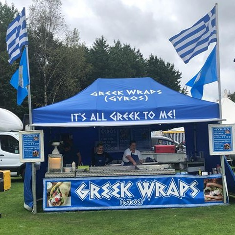 greek wrap caterers hire