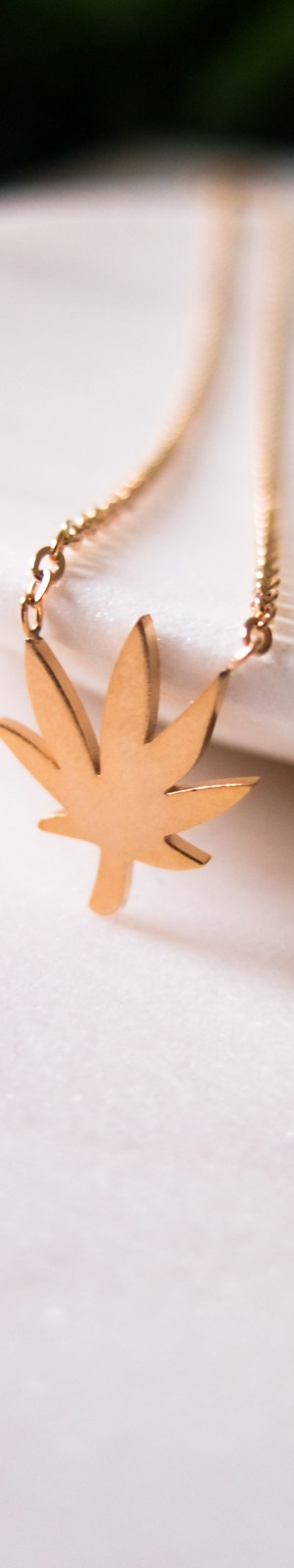 weed necklace gold