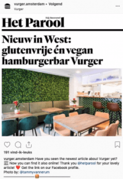 Vurger Amsterdam west Baarsjes vegan glutenfree burger Green Amsterdam interior
