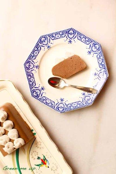 gâteau marron chantilly coco agar-agar