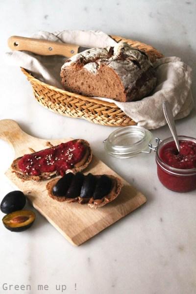 tartines fruits frais marmelade de lin