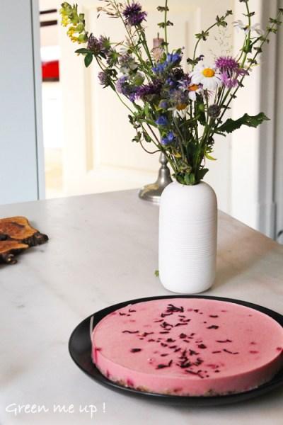 tarte rhubarbe coco hibiscus