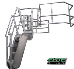 Elite Series GREENLINE Gangway | Self-Leveling Stairs | Made in the USA | Green-Mfg.com