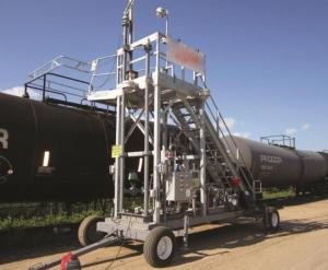 GREEN Portable Transloading Platforms provide a mobile access solution for transloading operations