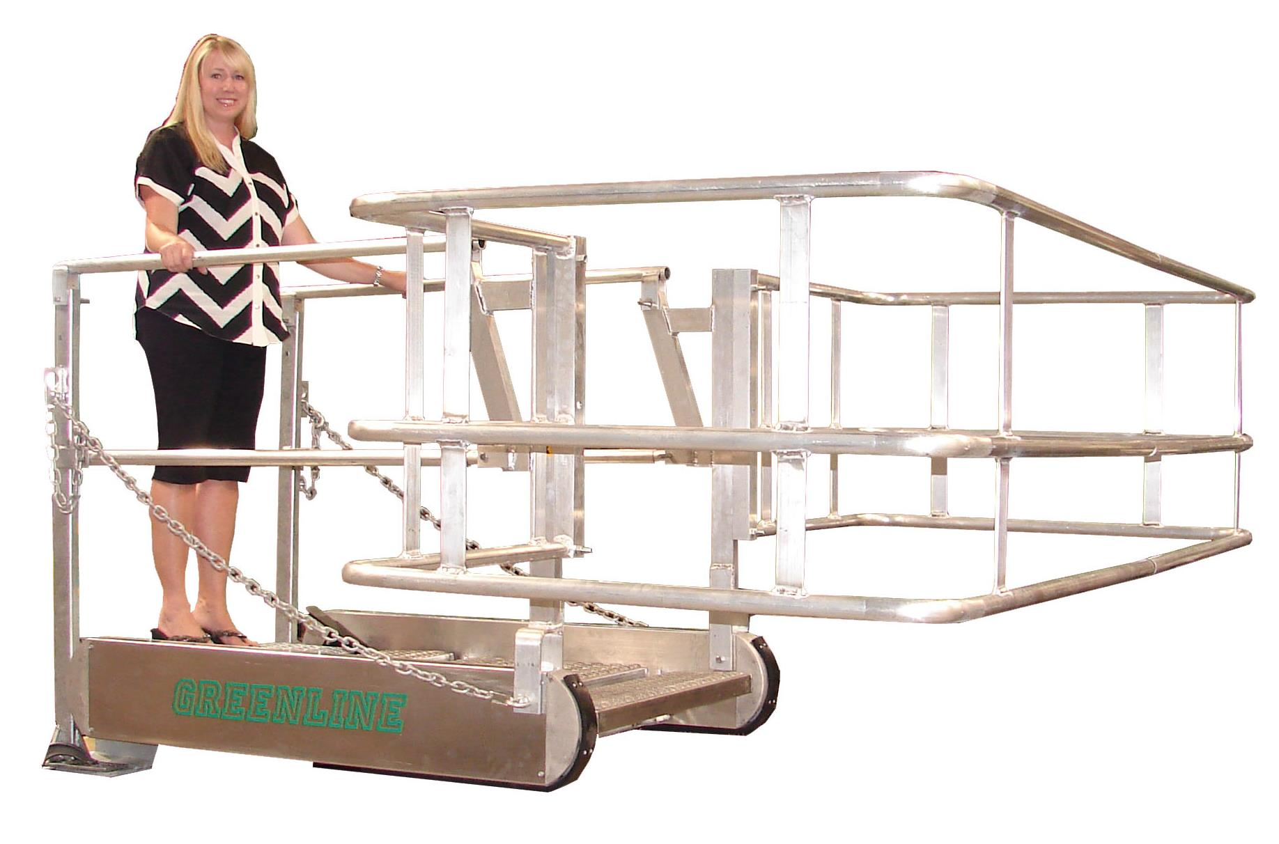 ... GREENLINE Gangway: Model SS U2013 Self Leveling Stairs | USA Made | Green   ...