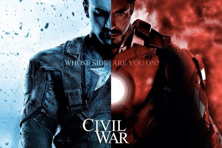"Plakat von ""The Fist Avenger: Civil War"""