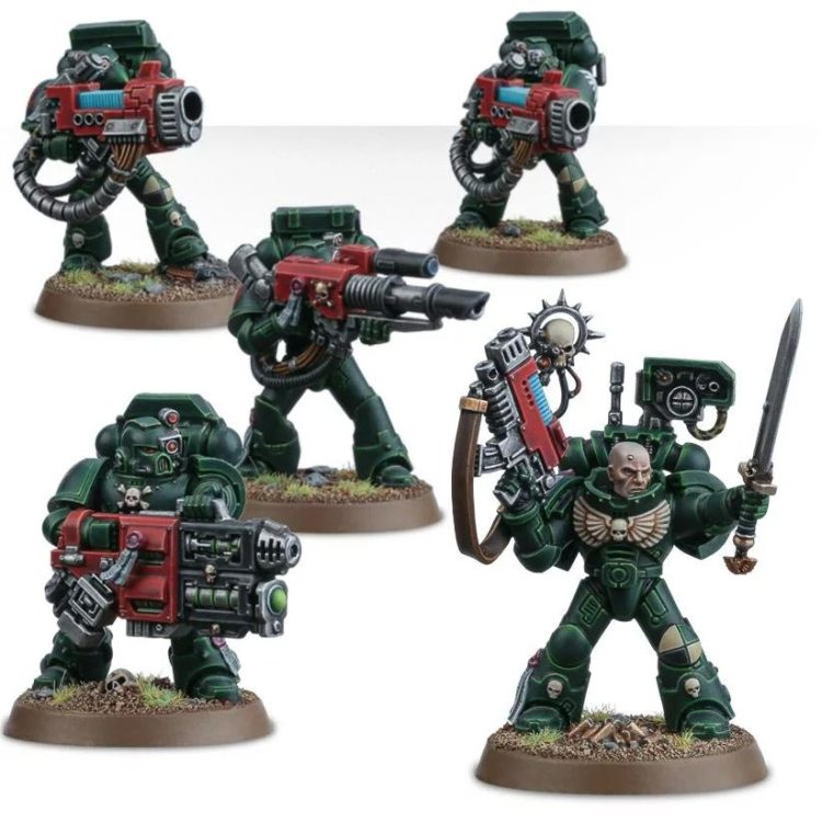 Ein Devastator Trupp der Dark Angels von Games Workshop