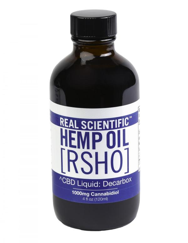 REAL SCIENTIFIC HEMP OIL BLUE LABEL CBD HEMP OIL LIQUID (1000MG CBD) 4 OZ