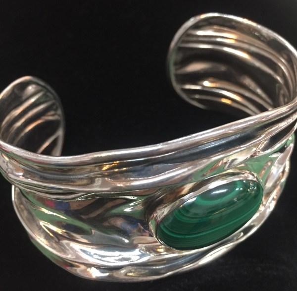 Malachite Bracelet - Green Acres Antiques Marietta OH