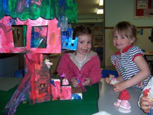 recycled cardboard tree house