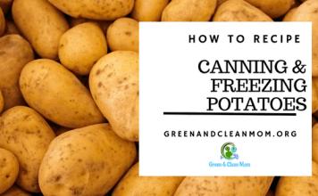 Canning and Freezing Potatoes