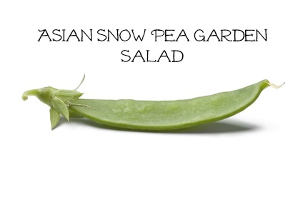 Asian Snow Pea Garden Salad #Healthy