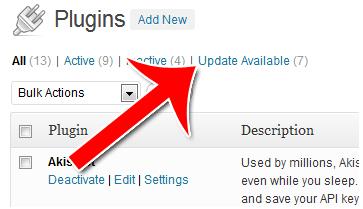 update plugins for your wordpress blog