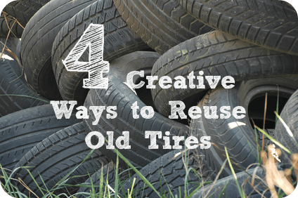 How to reuse old rubber tires