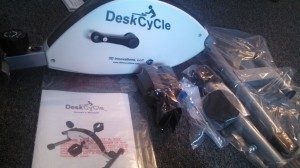 DeskCycle review for working out while at your desk.