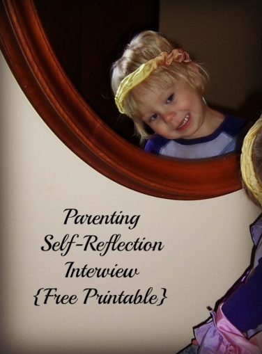 Parenting Self-Reflection Interview Questions and Free Printable #parenting