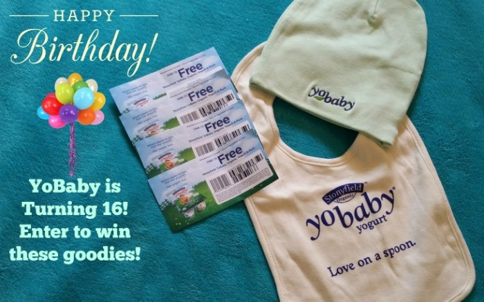 Happy Birthday YoBaby! #Giveaway #Win #StonyfieldBlogger