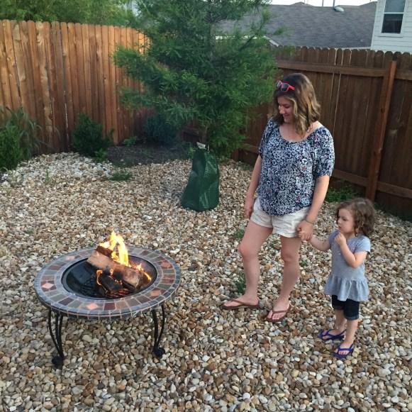 Tips and ideas for preparing your backyard for a camp out with little children.