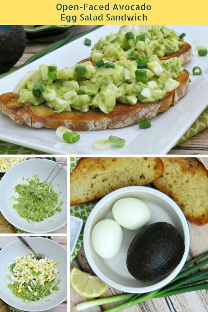 Open-Faced Avocado Egg Salad Sandwich