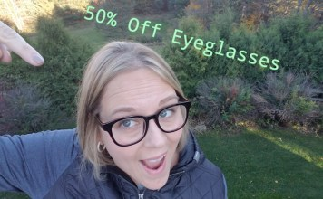 50% off eyeglasses discount code for Green and Clean Mom Readers